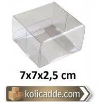 Asetat Kutu 7x7x2,5 cm.
