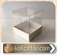 Altı Karton Üstü Asetat Kutu 5x5x6 cm.