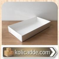 Asetat Kapaklı Altı Beyaz Karton Kutu 20x30x5 cm
