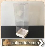 Asetat Kapaklı Beyaz Kutu 6x6x25 cm.