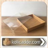 Asetat Kapaklı Karton Kutu 20x20x3 cm