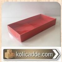 Asetat Kapaklı Kırmızı Kutu 20x10x3 cm