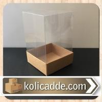 Asetat Kraft Kutu 8x8x12 cm.