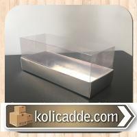 Asetat Kapaklı Gümüş Metalize Karton Kutu 6x15,5x6 cm.