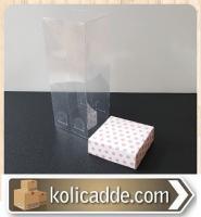 Asetat Kapaklı Puanlı Karton Kutu 6x6x25 cm.