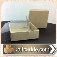 Asetat Kraft Kutu 9x9x3 cm.