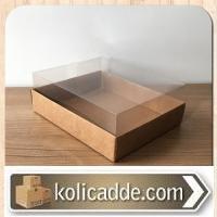 Kraft Karton Kutulu Asetat Kutu 12x15x5