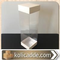 Asetatlı Beyaz Kutu 6x6x25 cm.