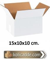 Beyaz Karton Kutu 15x10x10 cm.
