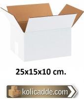 Tek Oluklu Beyaz Kutu 25x15x10 cm.