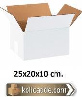 Beyaz Karton Kutu 25x20x10 cm.