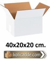 Beyaz Karton Koli 40x20x20 cm.