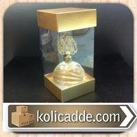 Altı Üstü Gold Rengi Karton Asetat Kutu 6x6x25 cm.