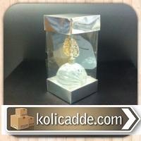 Çift Taraf Gümüş Karton Asetat Kutu 6x6x25 cm.