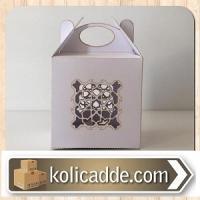 Beyaz Hediye Kutusu Lazer Kesim 6x6x6 cm.