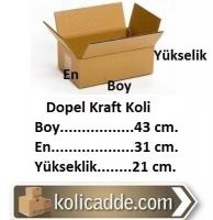 Dopel Karton Koli 43x31x21 cm.