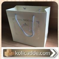 Gümüş Desenli Karton Çanta 20x20x10 cm