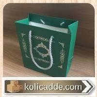 İpli Mini Karton Çanta 15,5x17x8 cm