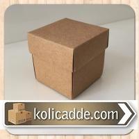Kapaklı Kraft Kutu 8x8x6,5 cm