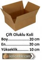 Çift Oluklu Karton Koli 20x20x10 cm.