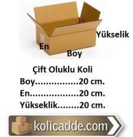 Çift Oluklu Karton Koli 20x20x20 cm.