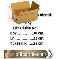 Oluklu Karton Koli 30x22x22 cm.