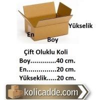 Karton Ambalaj Kolisi 40x20x20 cm.