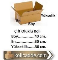 Karton Mukavva Koli 40x30x30 cm.