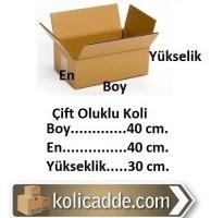 Oluklu Mukavva Koli 40x40x30 cm.