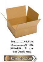Tek Oluklu Karton Kutu 43,5x29x9 cm.
