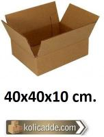 Tek Oluklu Karton Kutu 40x40x10 cm.