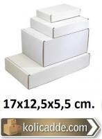 Kilitli Beyaz Karton Kutu 17x12,5x5,5 cm.