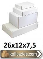 Kilitli Beyaz Kutu 26x12x7,5 cm.