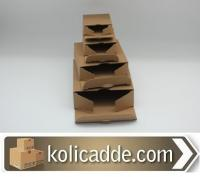Kilitli Karton Kutu 14x14x4,5 cm.