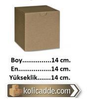 Kilitli Küp Karton Kutu 14x14x14 cm.