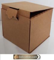 Toptan Kilitli Karton Kutu 8x6x5,5 cm.
