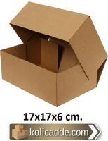 Kilitli Karton Kutu 17x17x6 cm.