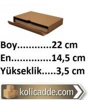 Kilitli Kitap Kutusu 22x14,5x3,5 cm.
