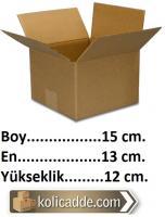 Tek Oluklu Karton Kutu 15x13x12 cm.