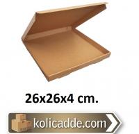 Kilitli Karton Kutu 26x26x4 cm