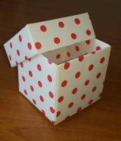Üstten Kapaklı Karton Kutu 5x5x5 cm.