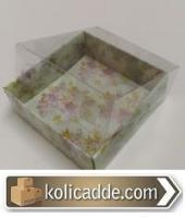 Çiçekli Küçük Kutu 5x5x2,2 cm.