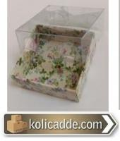 Çiçekli Minik Kutu 5x5x2,2 cm