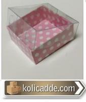 Asetat Kapaklı Pembe Küçük Kutu 5x5x3 cm