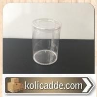 Şeffaf Silindir pvc Kutu Çap:7, Yükseklik: 10 cm
