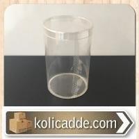 Asetat Silindir Kutu Çap:8, Yükseklik: 12,5 cm