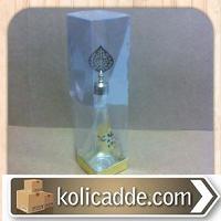 Gold Metalize Kutu Asetat Kapak 6x6x25 cm