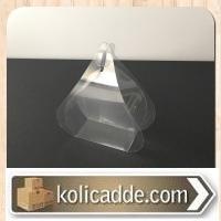Bohça Tipi Şeffaf Asetat Tesbih Kutusu 6x6x3 cm.