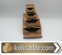 Toptan Kilitli Karton Kutu 9,5x9,5x3 cm.