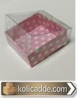 Pembe Puantiyeli Kutu 5x5x2,2cm